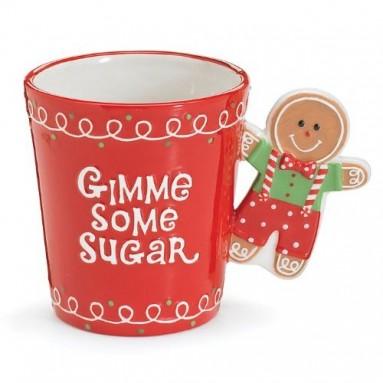 Gingerbread Man Gimme Some Sugar Christmas Coffee Mug