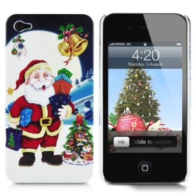 Merry Christmas iPhone 4 Hard Plastic Case