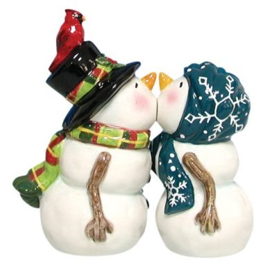 Magnetic Snow People Salt and Pepper Shaker Set