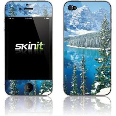 Winter on Lake Moraine Vinyl Skin for Apple iPhone 4S