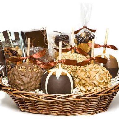 Deluxe Caramel Apple Gift Basket