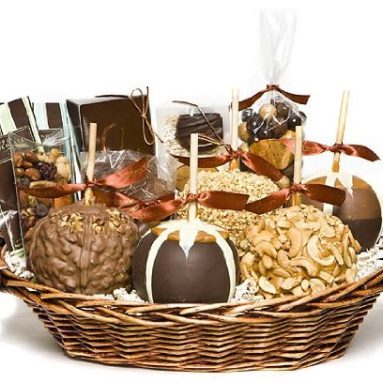 Deluxe Caramel Apple Gift Basket