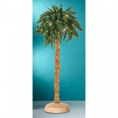 5 Foot Lighted Christmas Palm Tree
