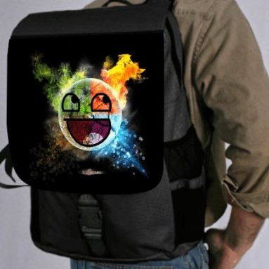 Colored 3d Smiley Face Back Pack