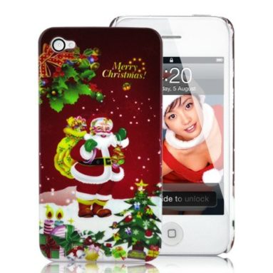 Merry Christmas iPhone 4 Hard Plastic Case