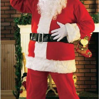 Flannel Santa Suit Adult