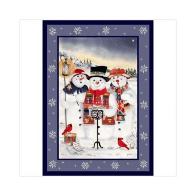 Winter Holiday Merry Minstrels Snowman Novelty Rug