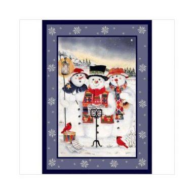 Winter Holiday Merry Minstrels Snowman Novelty Rug
