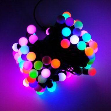 Color Changing LED RGB Ball String Christmas