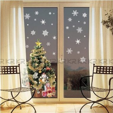 Christmas Holiday Time Reusable Wall Decoration Stickers