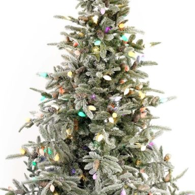 7.5′ Frosted With Snow Clumps LED Christmas Tree