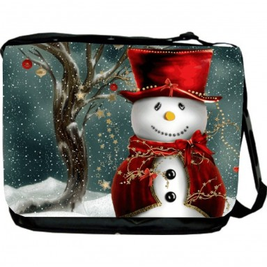 Holidays Snowman Design Messenger Bag