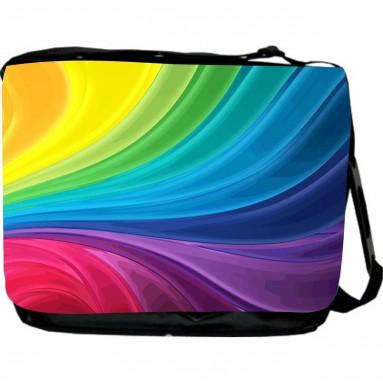 Rainbow Swirls Design Messenger Bag