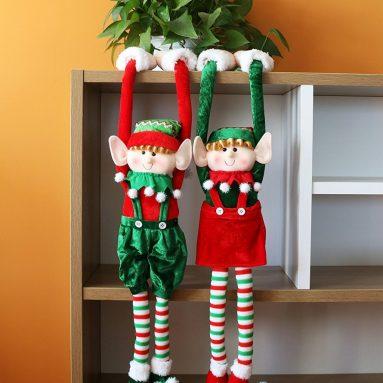 Adorable Flexible Christmas Elves Dolls Home Decoration