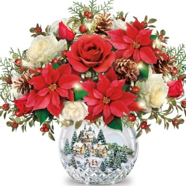All Is Bright Always In Bloom Illuminated Table Centerpiece