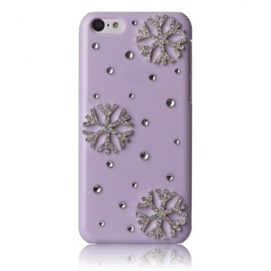 Apple iPhone 5C Case Bling Crystal Christmas Winter