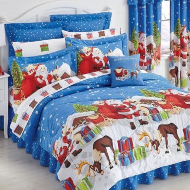 Christmas Presents Queen Comforter Set