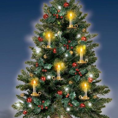 Bradford Exchange The Thomas Kinkade Holiday Traditions Tabletop Tree With Flickering Flameless Candles