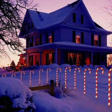 Candy Cane Pathway Lights