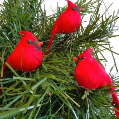 Cardinal Birds for Christmas Tree Ornaments