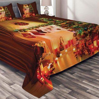 Christmas Bedspread Set King Size