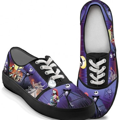 Christmas Canvas Art Women's Shoes