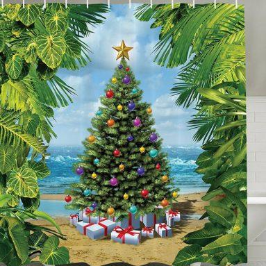 Christmas Concept on Tropic Sandy Beach