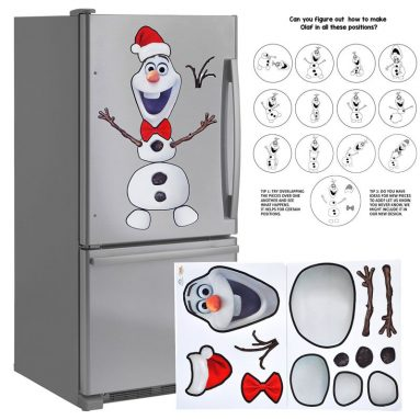 Christmas Decoration Snowman Magnet Creative Set