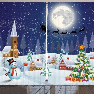 Christmas Decorations Curtains