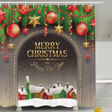 Christmas Decorations Shower Curtain Set