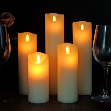 Christmas Flameless Candles Moving Wick Candles Flickering