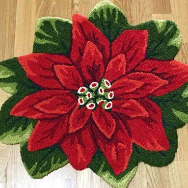 Christmas Flower Rug
