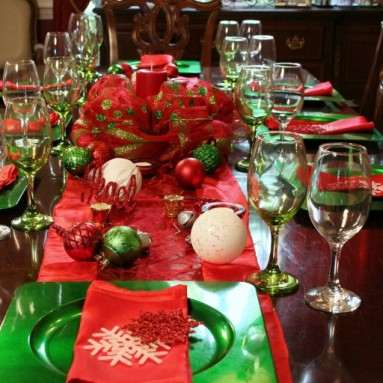 Christmas Holiday Table Top in a Box