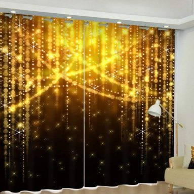 Christmas Luxury 3D Blackout Curtains