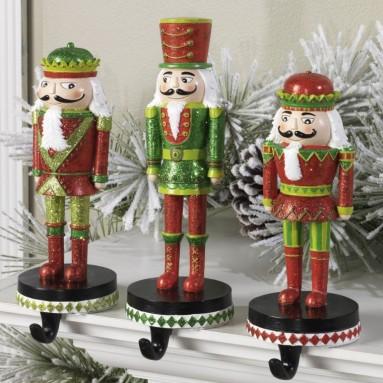 Christmas Nutcracker Stocking Hanger