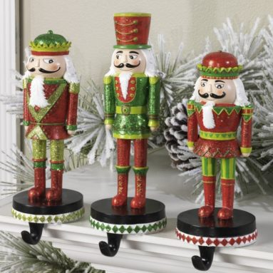 Christmas Nutcracker Stocking Hanger