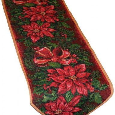 Christmas Poinsettia Table Runner