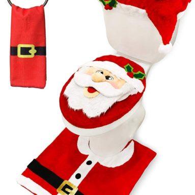Christmas Santa Theme Bathroom Decoration Set