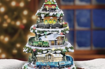 Christmas Train Light Up Christmas Tree with Sound