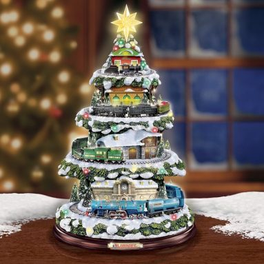 Christmas Train Light Up Christmas Tree with Sound