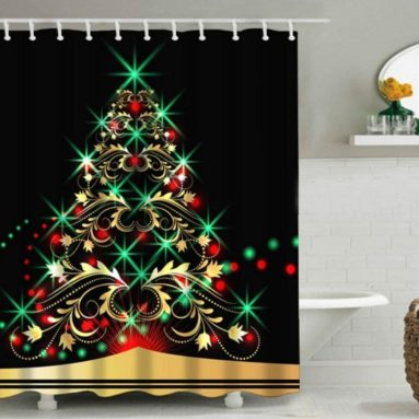 Christmas Tree Design Shower Curtain