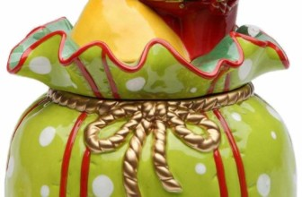 Christmas Tree Footed Square Cake Plate