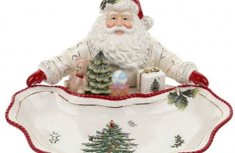 Christmas Tree Santa Dish