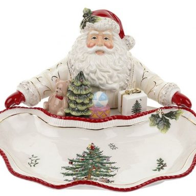 Christmas Tree Santa Dish