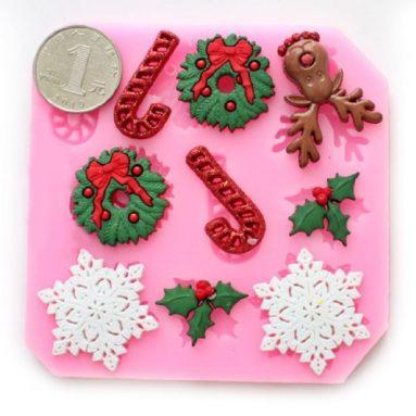 Christmas mold Fondant Mold Candy Mold