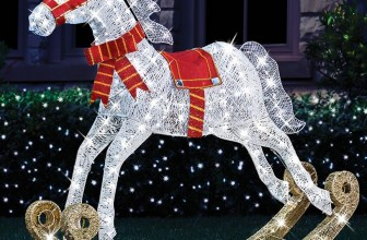 The 4′ Twinkling Rocking Horse