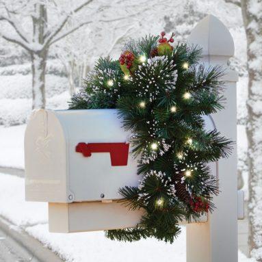 The Cordless Prelit Christmas Letter Box Cover
