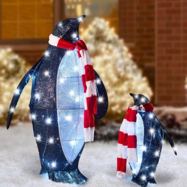 The Twinkling Christmas Penguins