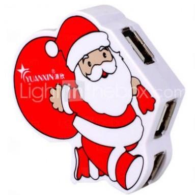 Santa Claus 4 Port USB 2.0 Hub