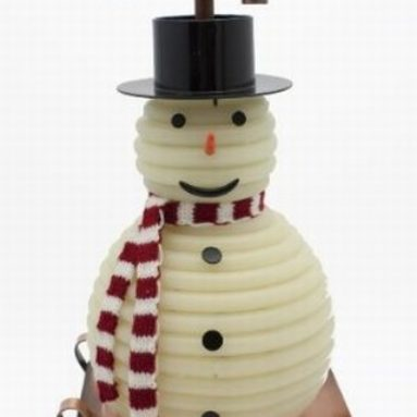 100-Hour Snowman Candle with Copper Base
